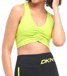 DKNY Yellow Ruched Sports Bra