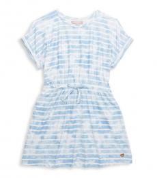 BCBGirls Girls Ocean Blue Yummy Tie-Dye Dress