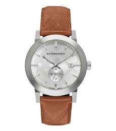 Burberry Brown Silver Dial Watch