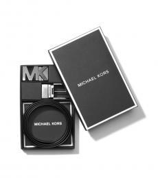 Michael Kors Vintage Indigo-Baltic Reversible Two Buckle Belt