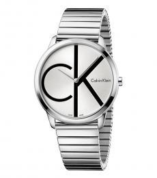 Calvin Klein Silver Dial Logo Watch