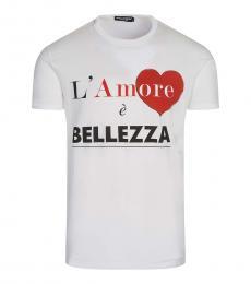 Dolce & Gabbana White Graphic Logo T-Shirt