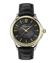Salvatore Ferragamo Black Two Tone Modish Watch