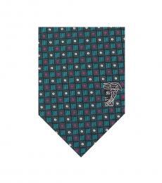 Versace Petrol Printed Tie