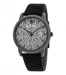 Emporio Armani Black Grey-White Dial Watch