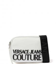 Versace Jeans White Signature Structured Crossbody