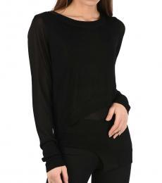 Black Asymmetrical Sweater