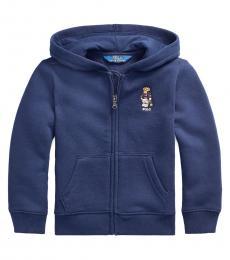 Ralph Lauren Little Boys Cruise Navy Polo Bear Hoodie