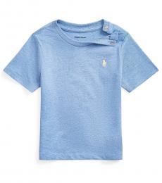 Ralph Lauren Baby Boys Soft Royal Heather Crew-Neck T-Shirt