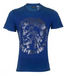 Blue Casual Graphic T-Shirt