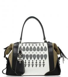 Fay Green Printed Large Satchel