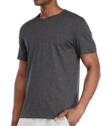 Calvin Klein Dark Grey Embroidered Logo T-Shirt