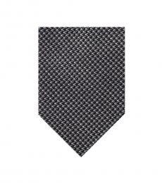 Ben Sherman Black-Grey Houndstooth Tie