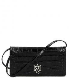 Alexander McQueen Black Textured Mini Crossbody