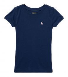 Ralph Lauren Girls French Navy Short Sleeve T-Shirt