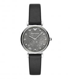 Emporio Armani Black Marble Grey Dial Watch