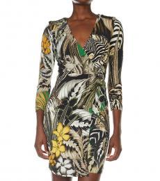 Multi color Printed V-Neck Dress