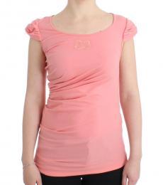 Cavalli Class Light Pink Cotton Top