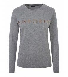 Emporio Armani Grey Slim Fit Logo Tee