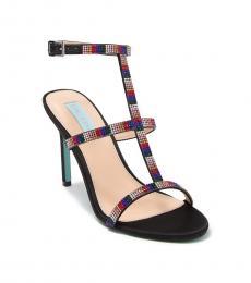 Betsey Johnson Rainbow Tate Embellished T-Strap Heels