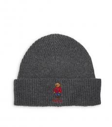 Grey Polo Pony Bear Beanie
