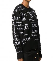 Givenchy Black Cashmere Logo Sweater