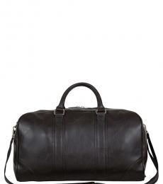 Brown Solid Large Duffle Bag