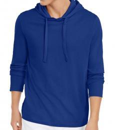 Michael Kors Twilight Blue Luxe Cotton Hoodie