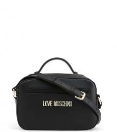 Love Moschino Black Round Pouch Small Crossbody