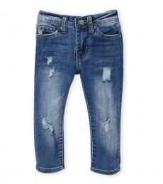 AG Adriano Goldschmied Baby Boys Blue Stryker Slim Straight Jeans