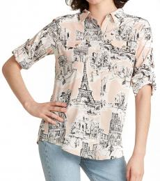 Peach Whimsical Paris Blouse