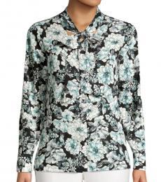 Karl Lagerfeld Succulent Green Floral Button-Down Shirt