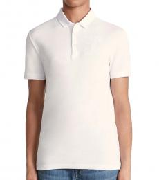 Versace Collection Whiteprint Medusa Logo Embroidery Polo
