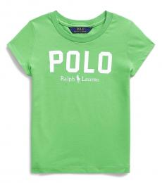 Ralph Lauren Little Girls New Lime Logo T-Shirt