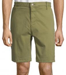 Military Olive Cotton Chino Shorts