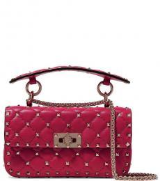 Valentino Garavani Fuchsia Rockstud Small Shoulder Bag