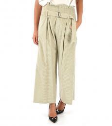Brunello Cucinelli Grey Corduroy Wide Leg Pants