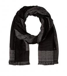 Ralph Lauren Black Check Blanket Scarf