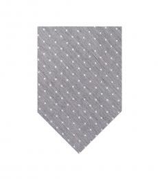 Calvin Klein Grey Indigo Dot Tie
