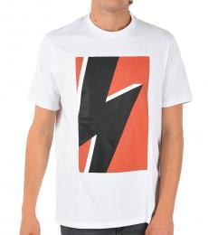 White Thunder Printed T-Shirt