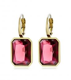 Gold-Fuchsia Modish Earrings