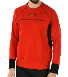 Neil Barrett Red Skinny Fit Sweatshirt