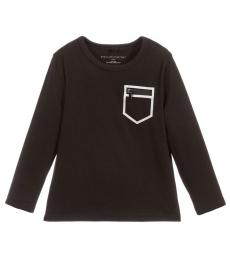 Stella McCartney Boys Black Front Pocket T-Shirt