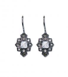 Ralph Lauren Hematite Crystals Earrings