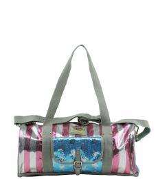 Juicy Couture Silver Patriotic Large Duffel Bag