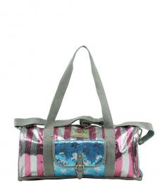 Juicy Couture Silver Patriotic Large Duffel Bag