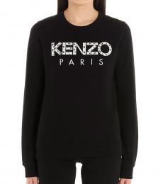 Kenzo Black Logo Cotton Sweatshirt