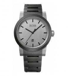 Hugo Boss Grey Neo Silicone Strap Watch
