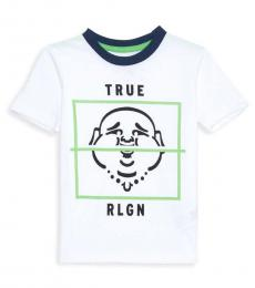 True Religion Little Boys White Buddha Box T-Shirt