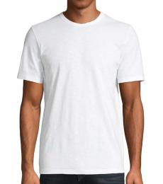 White Solid Cotton T-Shirt